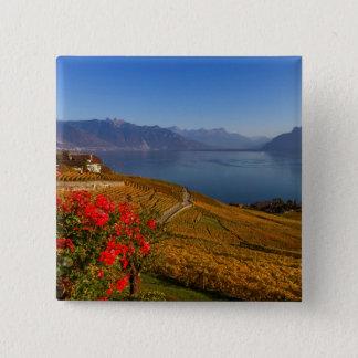 Badge Carré 5 Cm Région de Lavaux, Vaud, Suisse