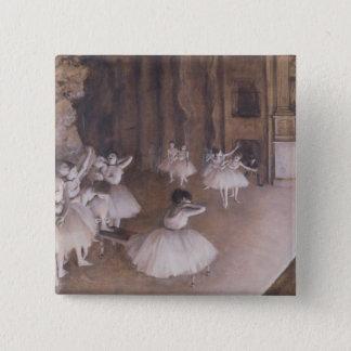 Badge Carré 5 Cm Répétition de ballet d'Edgar Degas | sur l'étape,