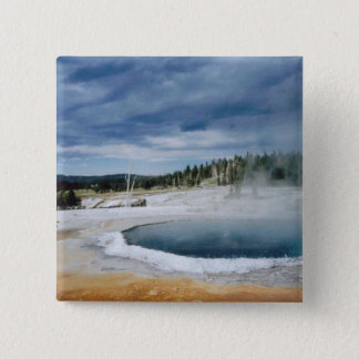 Badge Carré 5 Cm Ressort-Yellowstone chaud