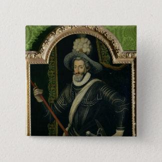 Badge Carré 5 Cm Roi de Henri IV de la France et de la Navarre,