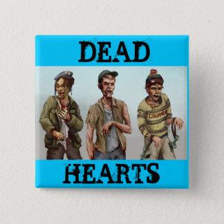 Badge Carré 5 Cm Roman mort de coeurs - bouton de zombi