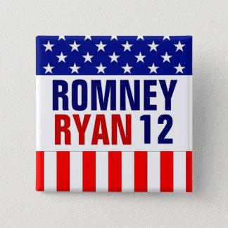 Badge Carré 5 Cm Romney Ryan 2012
