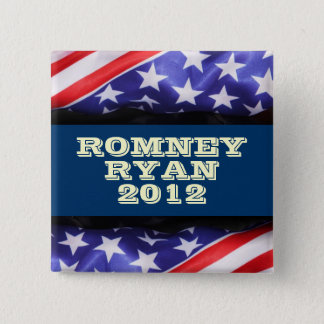 Badge Carré 5 Cm Romney/Ryan 2012 boutons carrés de Compaign