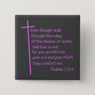 Badge Carré 5 Cm Rose de 23:4 de psaumes