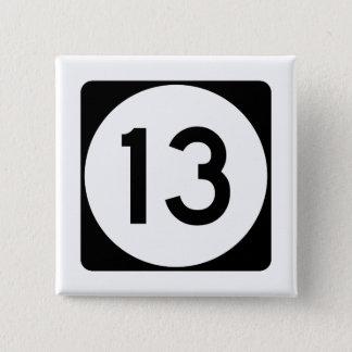 Badge Carré 5 Cm Route 13 du Mississippi