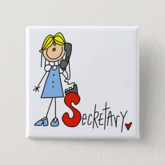 Badge Carré 5 Cm S est pour le secrétaire