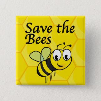 Badge Carré 5 Cm Sauvez les abeilles