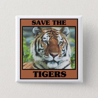 Badge Carré 5 Cm Sauvez les tigres