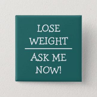 Badge Carré 5 Cm Simple demandez-moi que perdez les boutons de