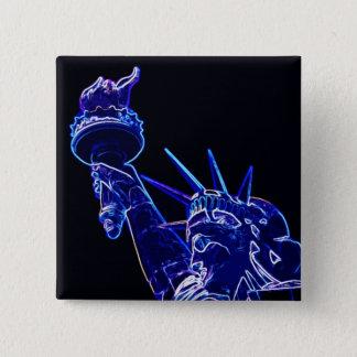 Badge Carré 5 Cm Statue d'art de bruit de liberté