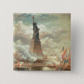 Badge Carré 5 Cm Statue de la liberté