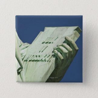 Badge Carré 5 Cm Statue de la liberté 2