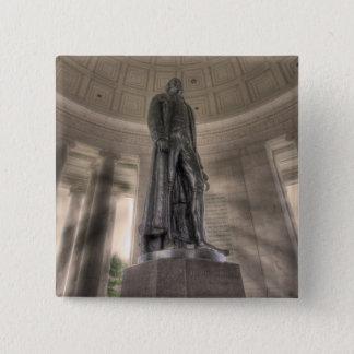 Badge Carré 5 Cm Statue en bronze commémorative de Thomas Jefferson
