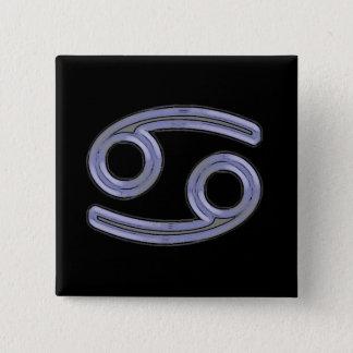 Badge Carré 5 Cm Symbole de signe d'étoile de Cancer