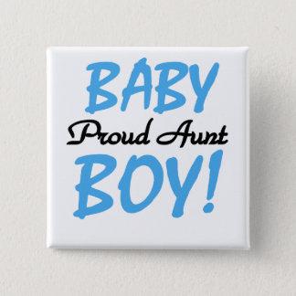 Badge Carré 5 Cm T-shirts et cadeaux fiers de tante bébé
