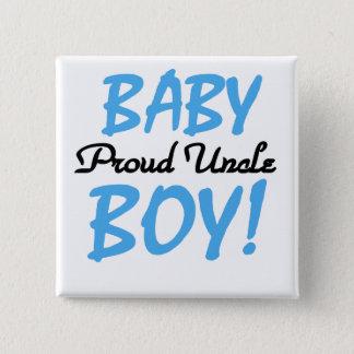 Badge Carré 5 Cm T-shirts et cadeaux fiers d'oncle bébé
