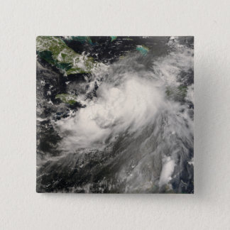 Badge Carré 5 Cm Tempête tropicale Gustav en mer des Caraïbes