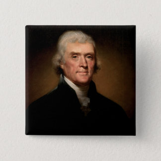 Badge Carré 5 Cm Thomas Jefferson