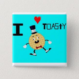 Badge Carré 5 Cm Toasty l'homme de gaufre