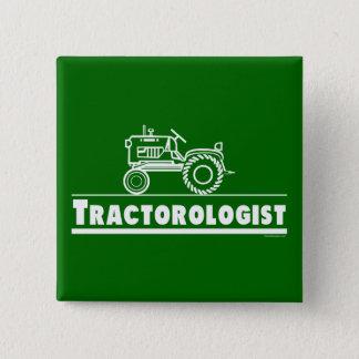 Badge Carré 5 Cm Tracteur vert Ologist