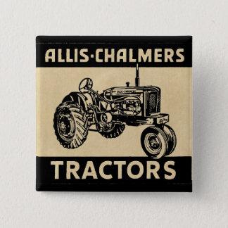 Badge Carré 5 Cm Tracteur vintage de ferme