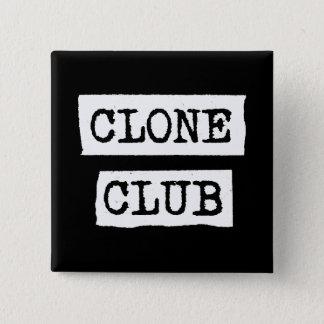 Badge Carré 5 Cm Typographie orpheline de club de clone du noir |