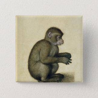 Badge Carré 5 Cm Un singe