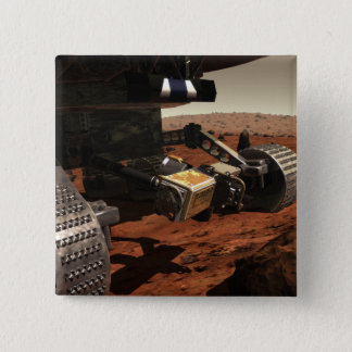 Badge Carré 5 Cm Une vue en gros plan du bras sur Mars de la NASA