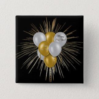 Badge Carré 5 Cm Vacances - ballons de bonne année