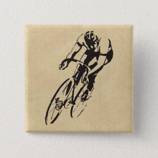 Badge Carré 5 Cm Vélo emballant le vélodrome