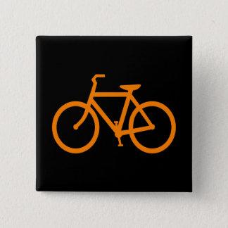 Badge Carré 5 Cm Vélo orange