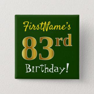Badge Carré 5 Cm Verdissez, anniversaire d'or de Faux le