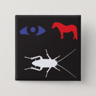 Badge Carré 5 Cm Vermine de poney d'oeil