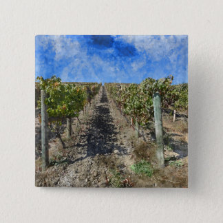 Badge Carré 5 Cm Vignoble dans Napa Valley la Californie
