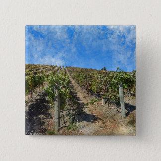 Badge Carré 5 Cm Vignoble dans Napa Valley la Californie