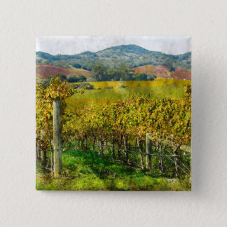Badge Carré 5 Cm Vignoble de Napa Valley la Californie