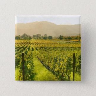 Badge Carré 5 Cm Vignoble en automne dans Napa Valley la Californie