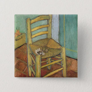 Badge Carré 5 Cm Vincent van Gogh chaise de | Vincent, 1888