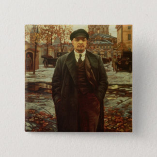 Badge Carré 5 Cm Vladimir Ilyich Lénine chez Smolny, c.1925