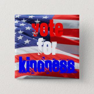 Badge Carré 5 Cm Vote pour des élections inspirées d'amour de