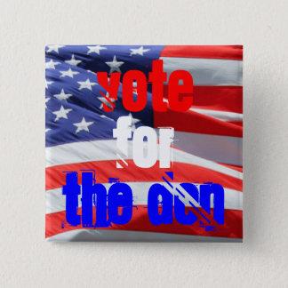Badge Carré 5 Cm Vote pour Don, élections présidentielles