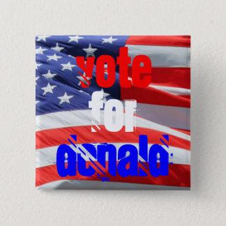 Badge Carré 5 Cm Vote pour Donald Trump, élections présidentielles