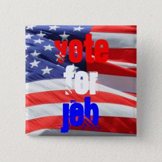 Badge Carré 5 Cm Vote pour Jeb Bush, élections présidentielles