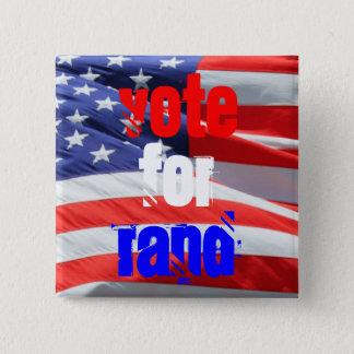Badge Carré 5 Cm Vote pour le couche-point Paul, élections