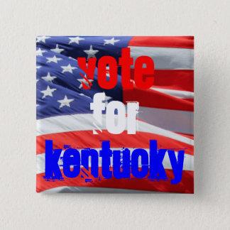 Badge Carré 5 Cm Vote pour le Kentucky, élections présidentielles