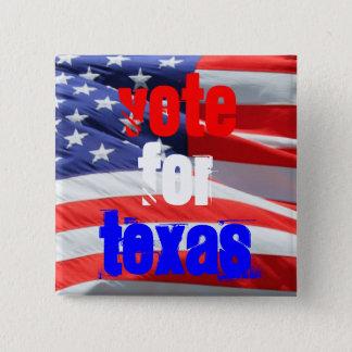 Badge Carré 5 Cm Vote pour le Texas, élections présidentielles