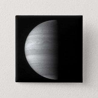 Badge Carré 5 Cm Vue en gros plan de la planète Jupiter