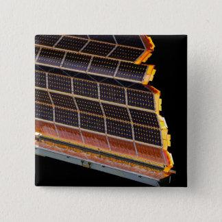 Badge Carré 5 Cm Vue en gros plan des rangées solaires