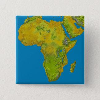 Badge Carré 5 Cm Vue topographique de l'Afrique