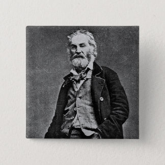 Badge Carré 5 Cm Walt Whitman avant la guerre civile